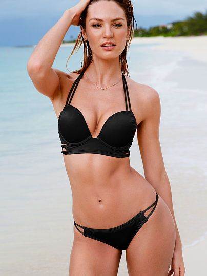 c97a10d75b 2015 Summer Collections of Victorias Secret The Bombshell Add-2-Cups Push-Up  Halter Bombshell Swim Tops