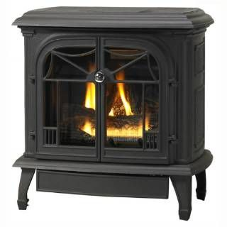 Check out the Superior Fireplaces CISB-BX12518M B-Vent Cast Iron Stove in Flat Black