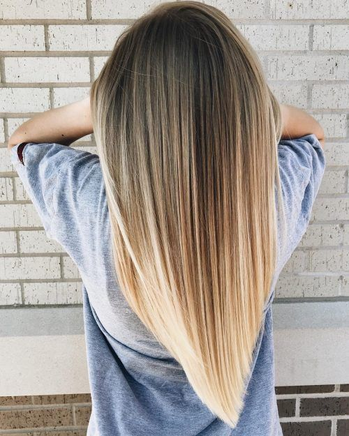 28 Perfect Hairstyles for Straight Hair in 2020 - Long hair v cut, Hair styles, Straight hair cuts, V cut hair, V shape hair, Straight hairstyles - Are you ready for some serious straight hair inspiration  Tease up your straight strands into one of these extraordinary hairstyles!