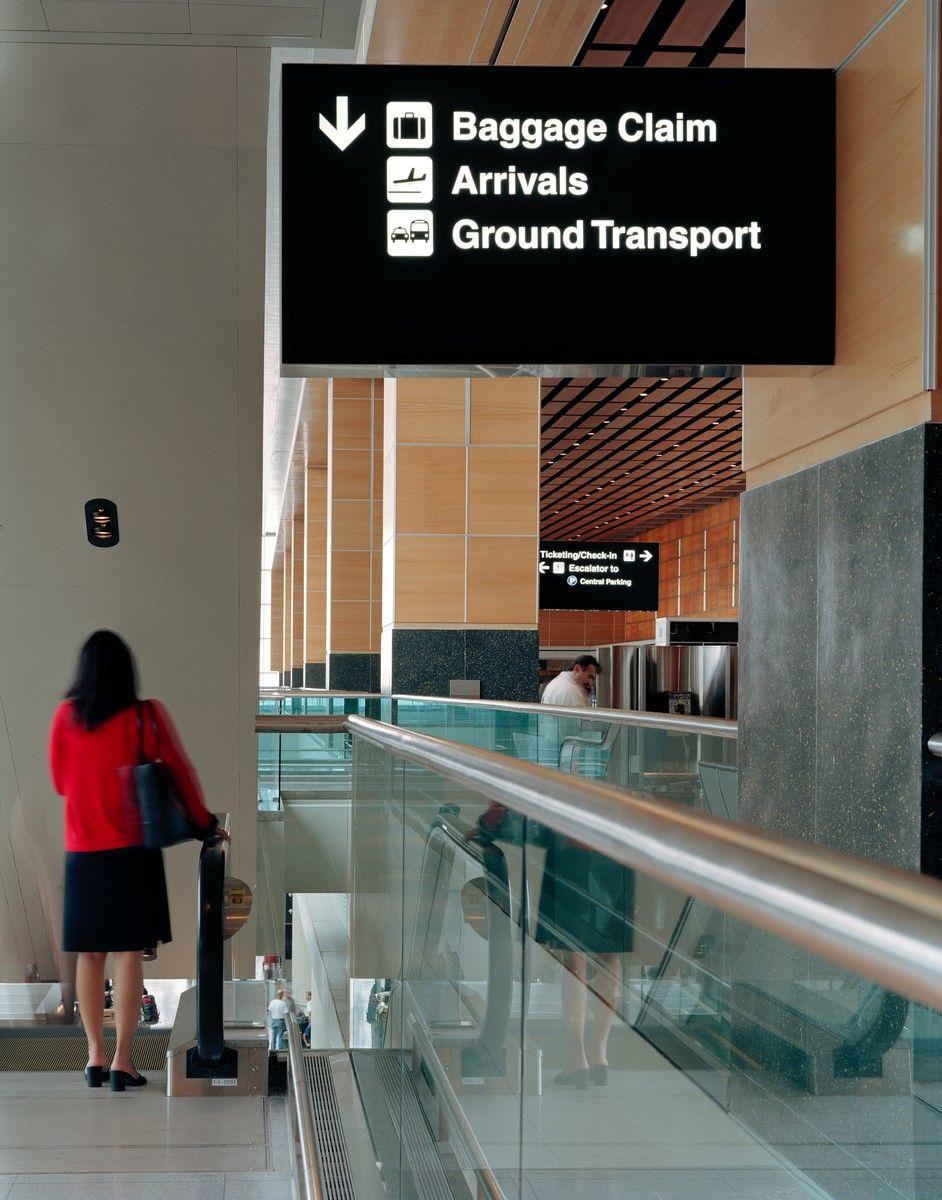 Logan International Airport Terminal E Signage Logan