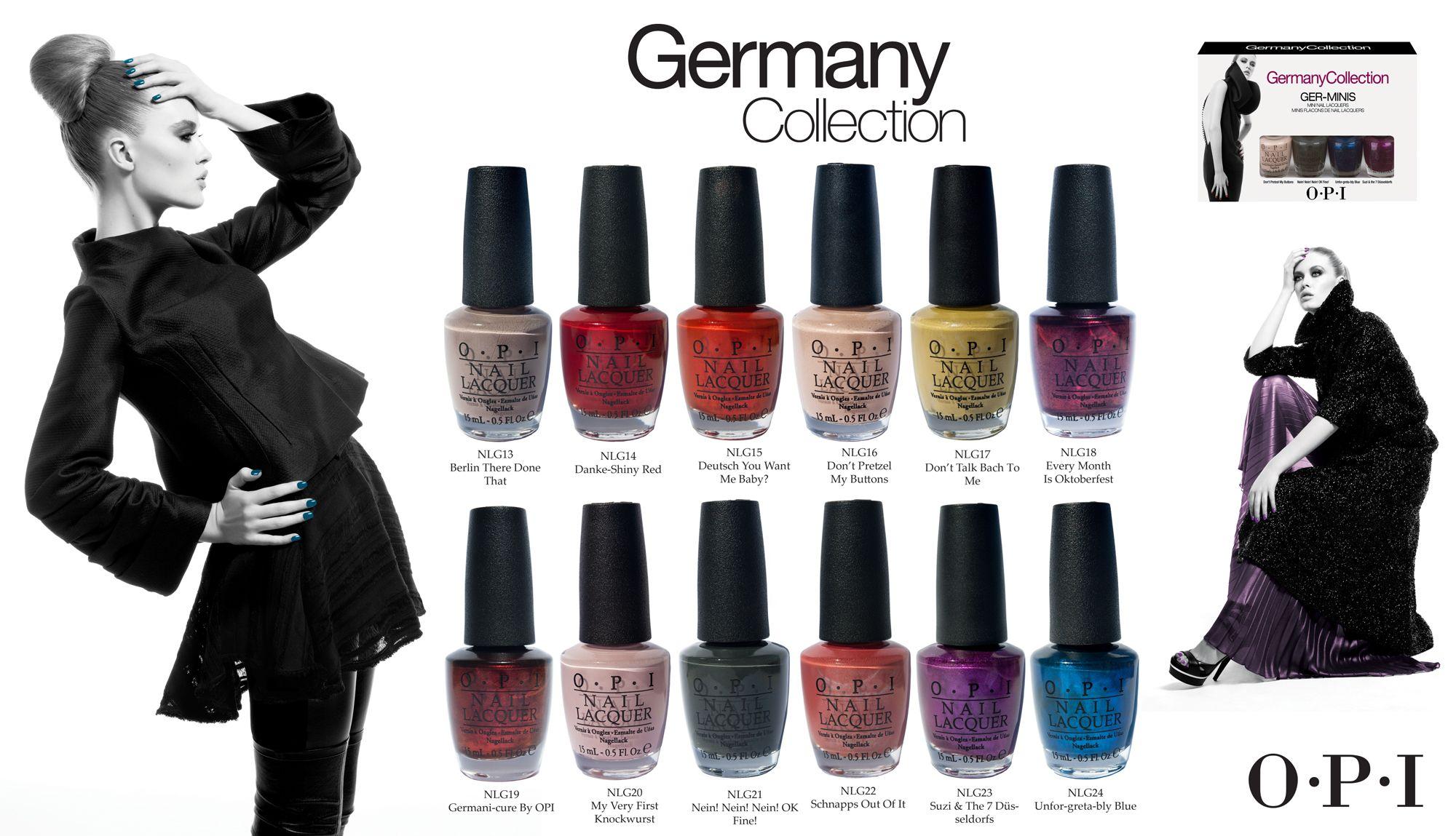 OPI Nagellack Germany Collection | OPI Nagellack Kollektioner ...