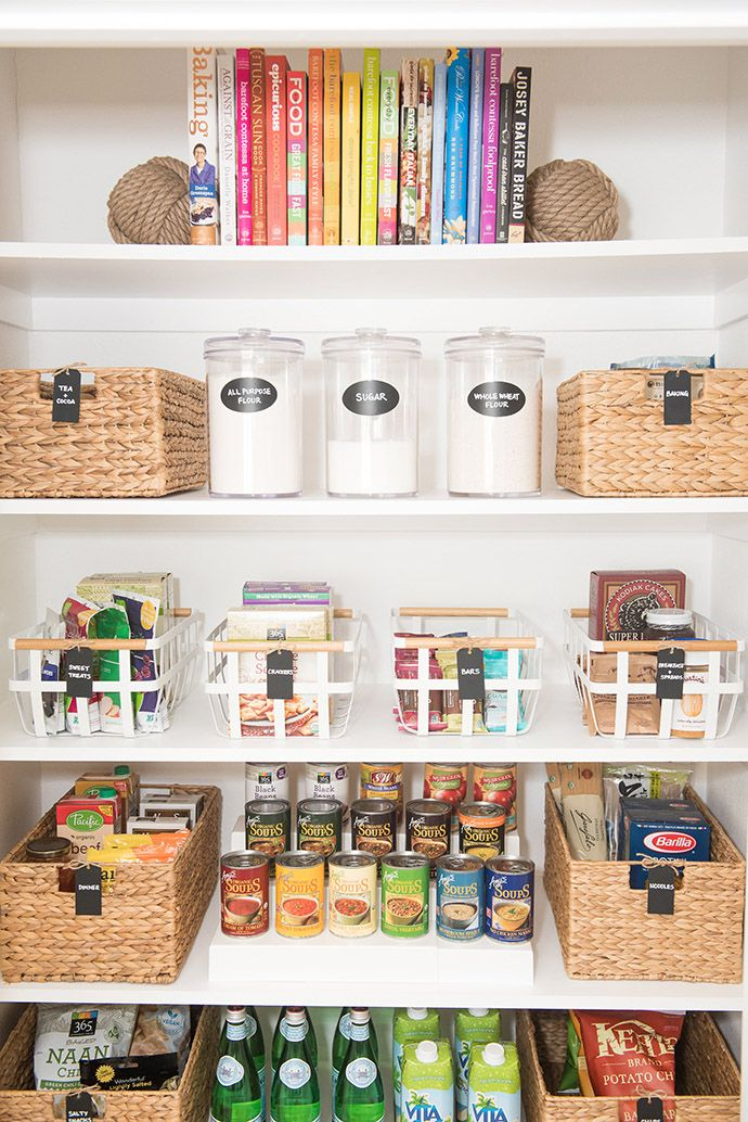 The 5 key elements of a well organized pantry pinterest for Organization ideas for kitchen pantry