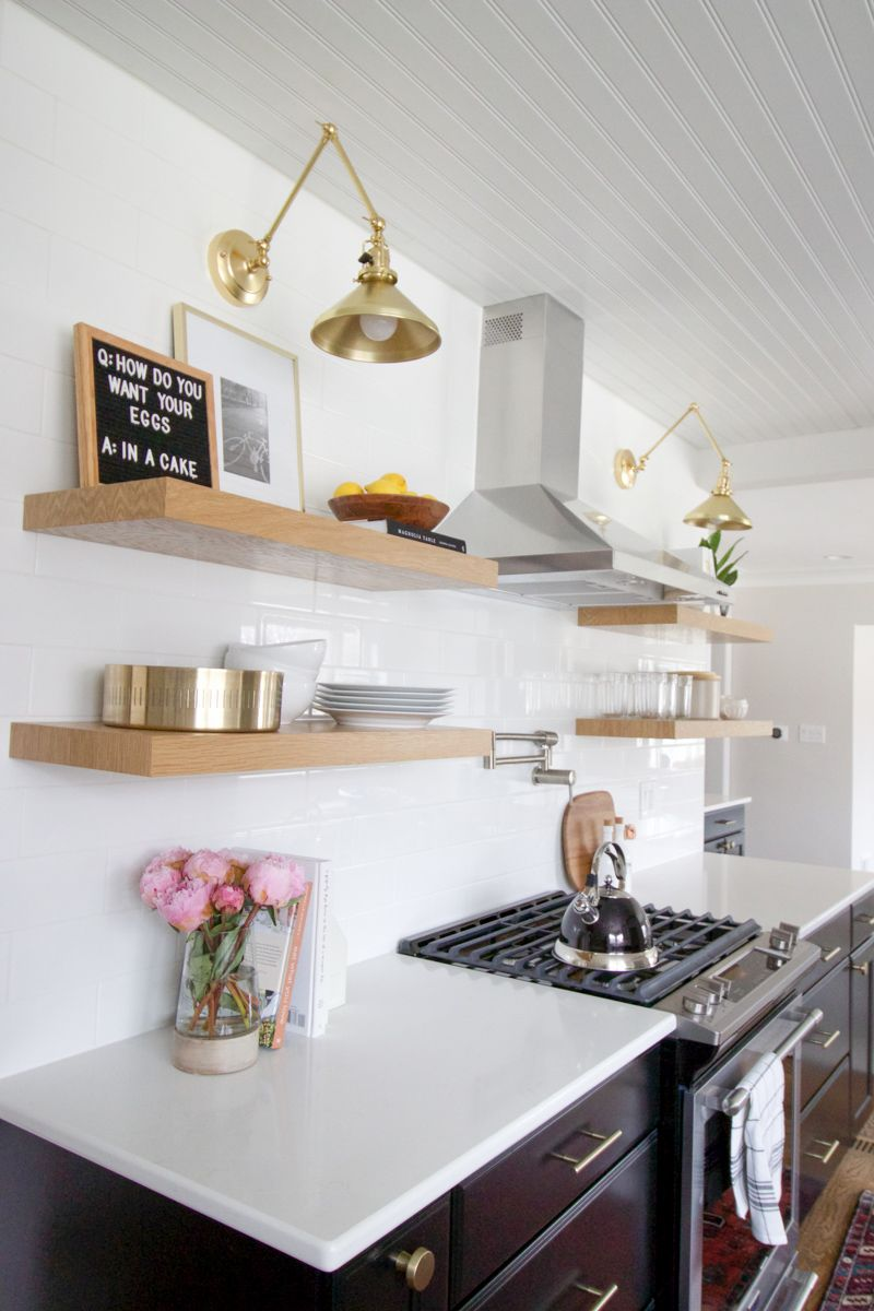 How to Style Open Shelves in the Kitchen Diy kitchen