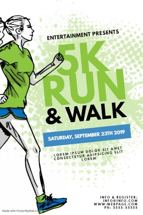 5k Run Walk Color Run Flyer Template Postermywall Running 5k Flyer Template Flyer