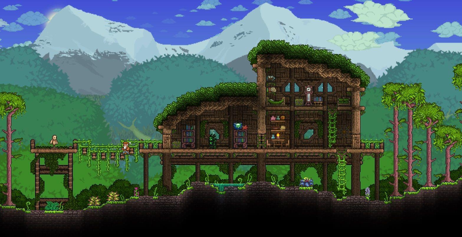 Jungle House | Terraria house design, Jungle house ... on