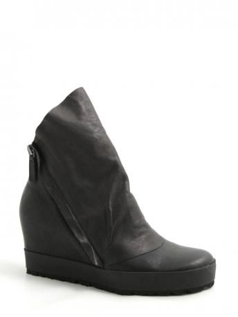 Puro-on the road caiman black-ankle boots-stivaletti-Puro shoes shop