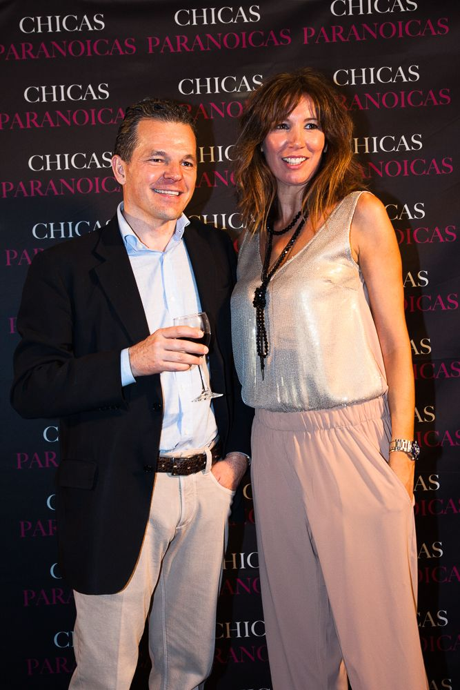 Nuestro Director Pedro Del Santo con Marta Landín de Telemadrid #chicasparanoicas #abcserrano
