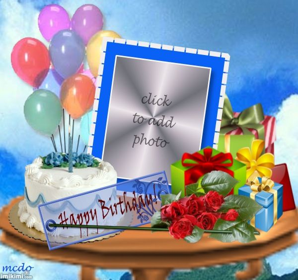 Birthday Husband Imikimi Photo Frame.Happy Birthday Dear Husband May God Bless You Always With Good