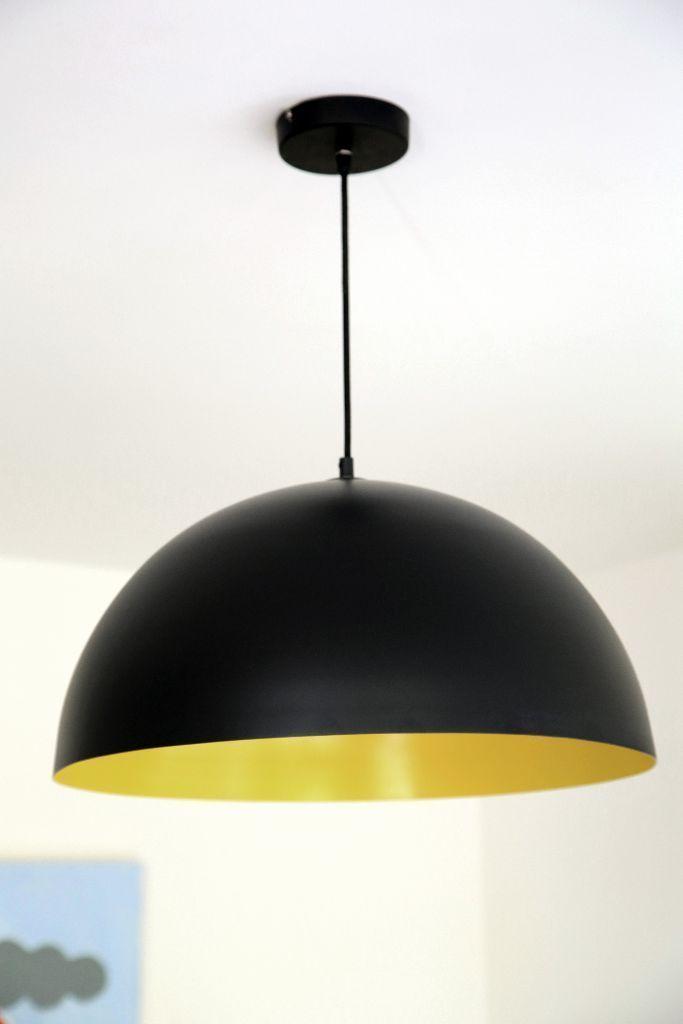 habitat samuel black and yellow metal ceiling light never used