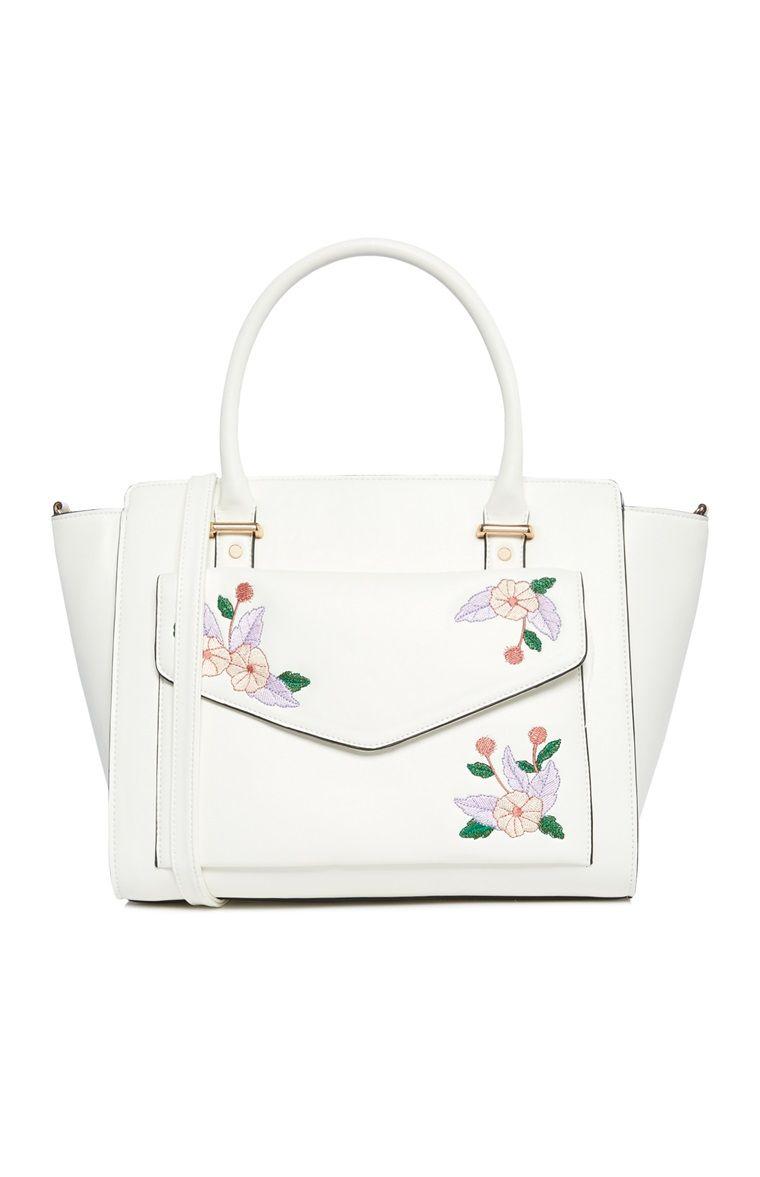 Primark White Floral Tote Bag Primark Purses Floral Tote Bags