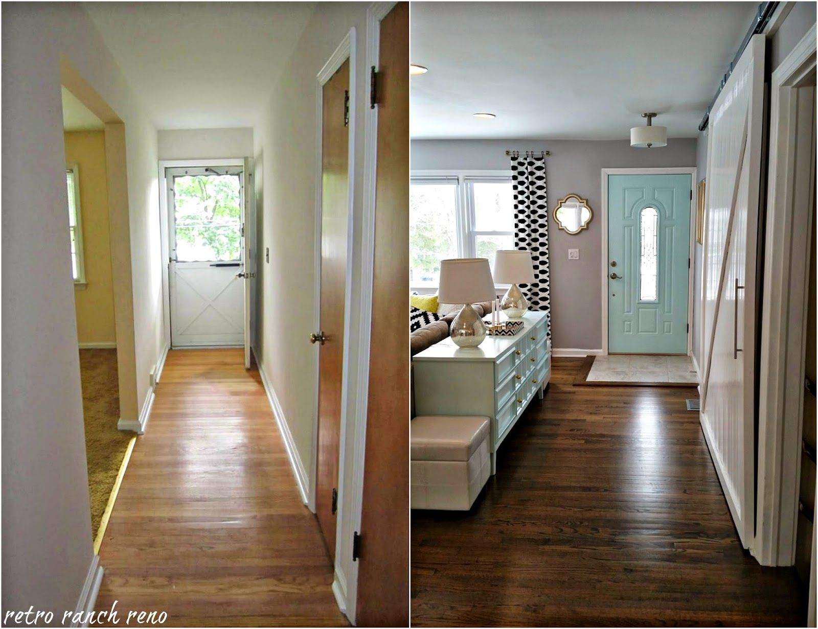 Retro ranch reno our rancher before after the - Living room renovation before and after ...
