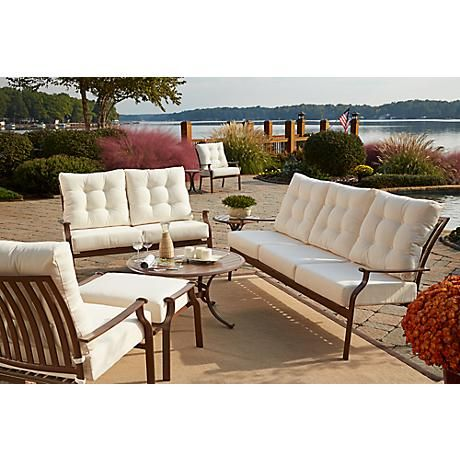 Panama Jack Island Breeze 5 Piece Patio, What Is The Best Fabric For Outdoor Furniture Covers