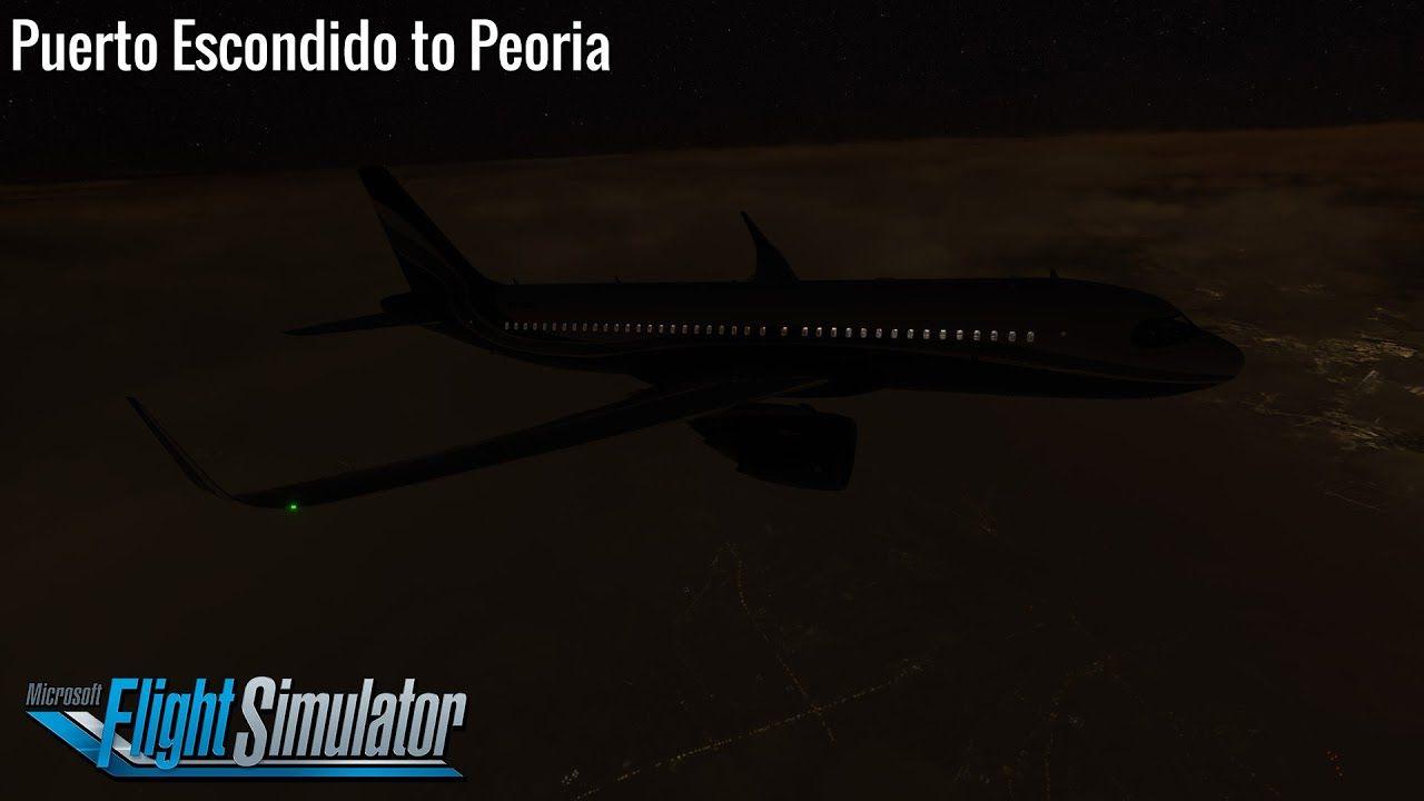 Puerto Escondido to Peoria - Airbus A320neo (A32NX ...