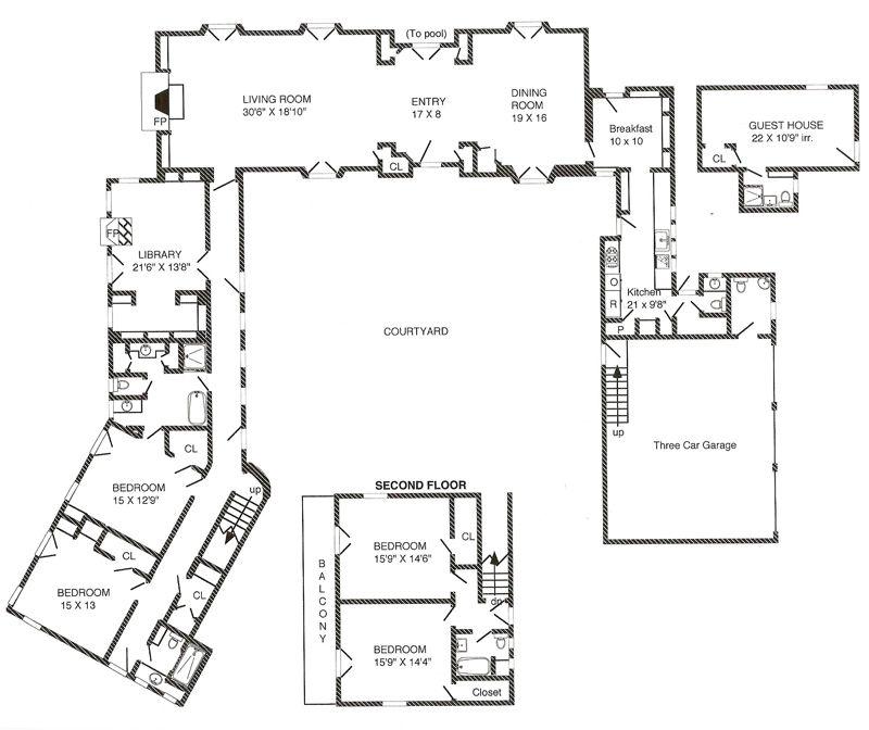 Spanish Hacienda House Plans Courtyard