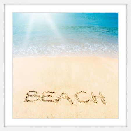 Marmont Hill Sandy Beach Framed Painting Print, Size: 32\\ x 32 ...
