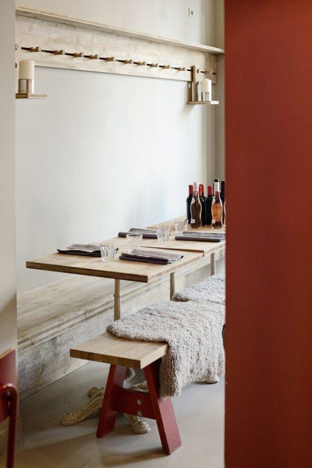 Salle à manger Mobilier en chêne Parquet peint Camaïeu de beige - Salle A Manger Parquet