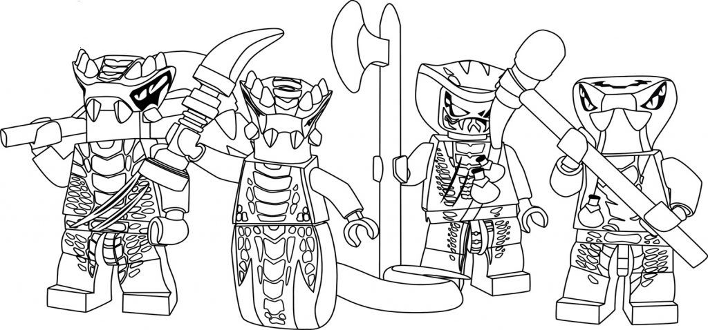 Beau Lego Ninjago Coloring Pages