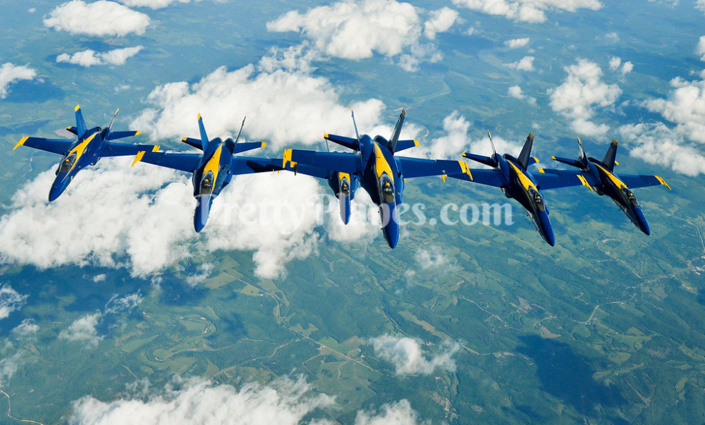USN Blue Angels Conduct Aerial Refueling 2016 Blue