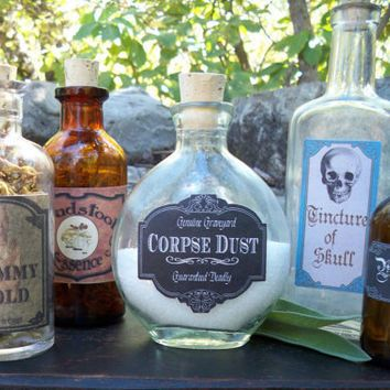 Halloween Decorations Potion Bottles New Corpse Dust Label  Halloween Decor  Pinterest  Haunted Houses Design Decoration