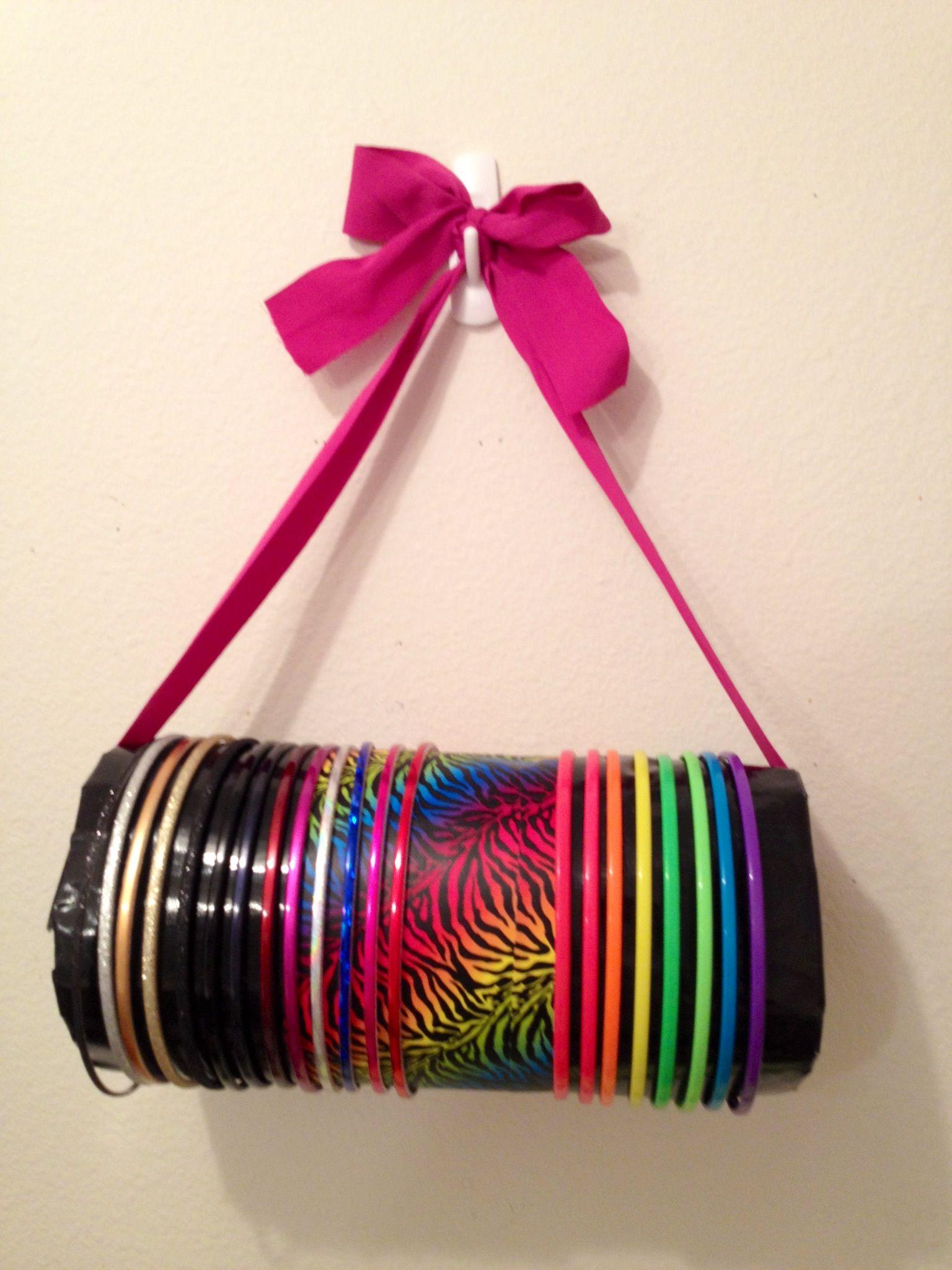 DIY headband holder (cheap and easy!) --Roll of cheap ...