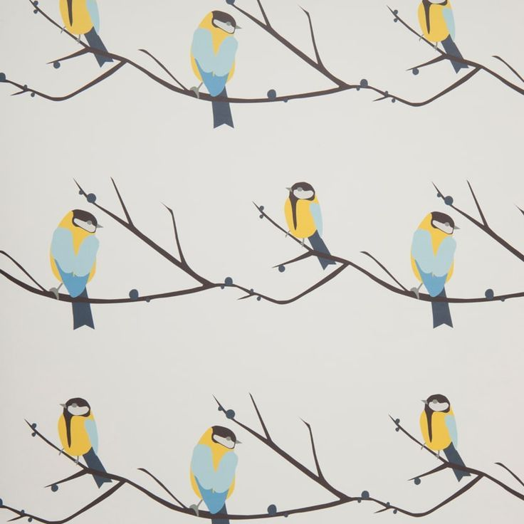 Juneberry and Bird Wallpaper designed by Lorna Syson
