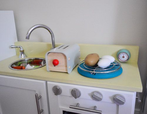 Super Cute Kid Kitchen! (Tattoos, A Timer, Tin, And A Tray
