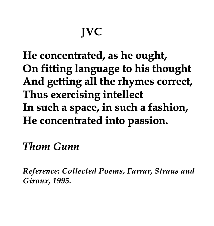 Thom Gunn British Poet Poem Jvc Ode To Autumn By John Keat Summary