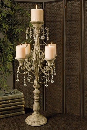 Imax Tracy Candle Chandelier Tabletop Candle Decor Candle