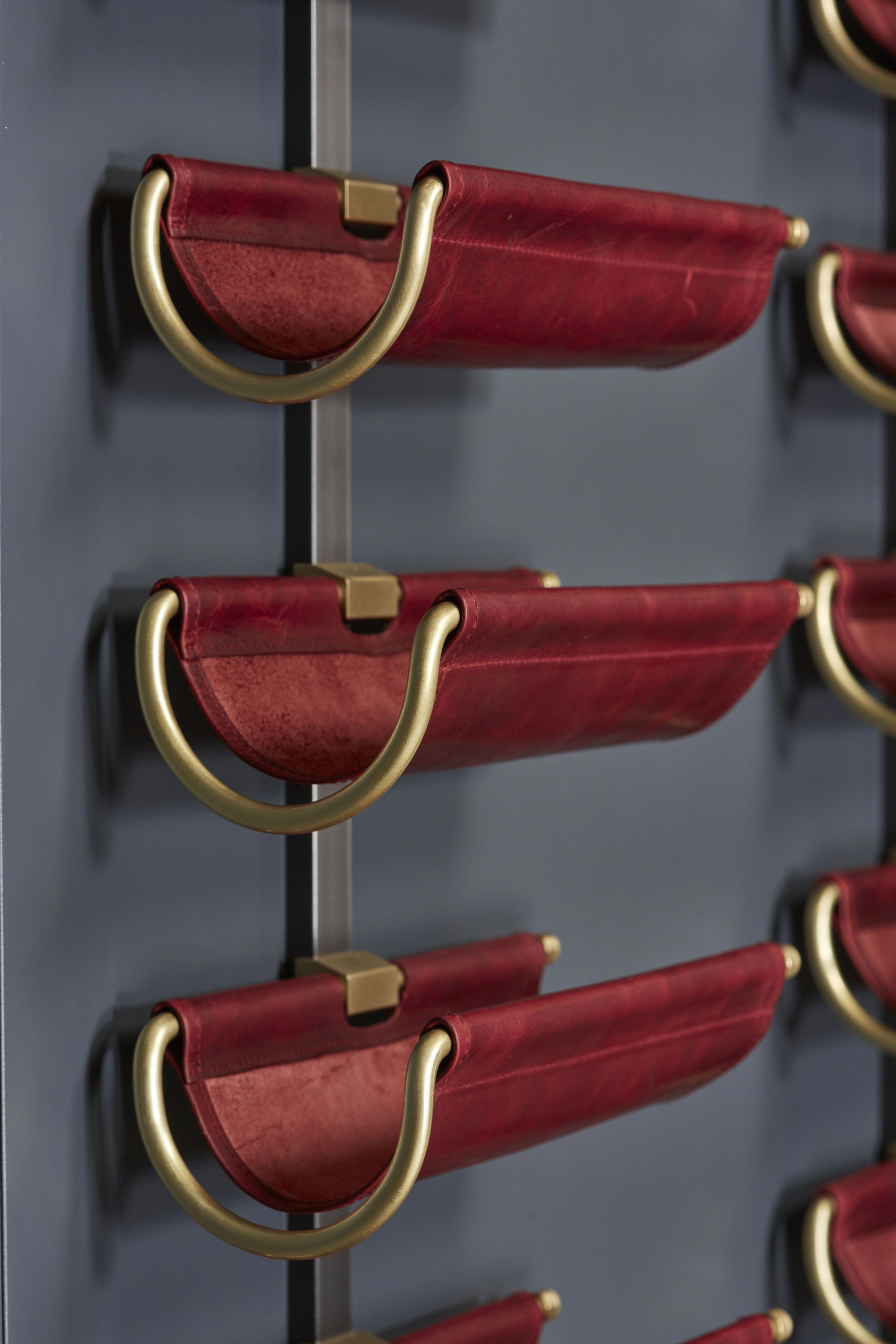 Wine Saddle Display Unit Amuneal Magnetic Shielding Custom Fabrication Winecellar Wine Wall Wine Cellar Design Wine Store