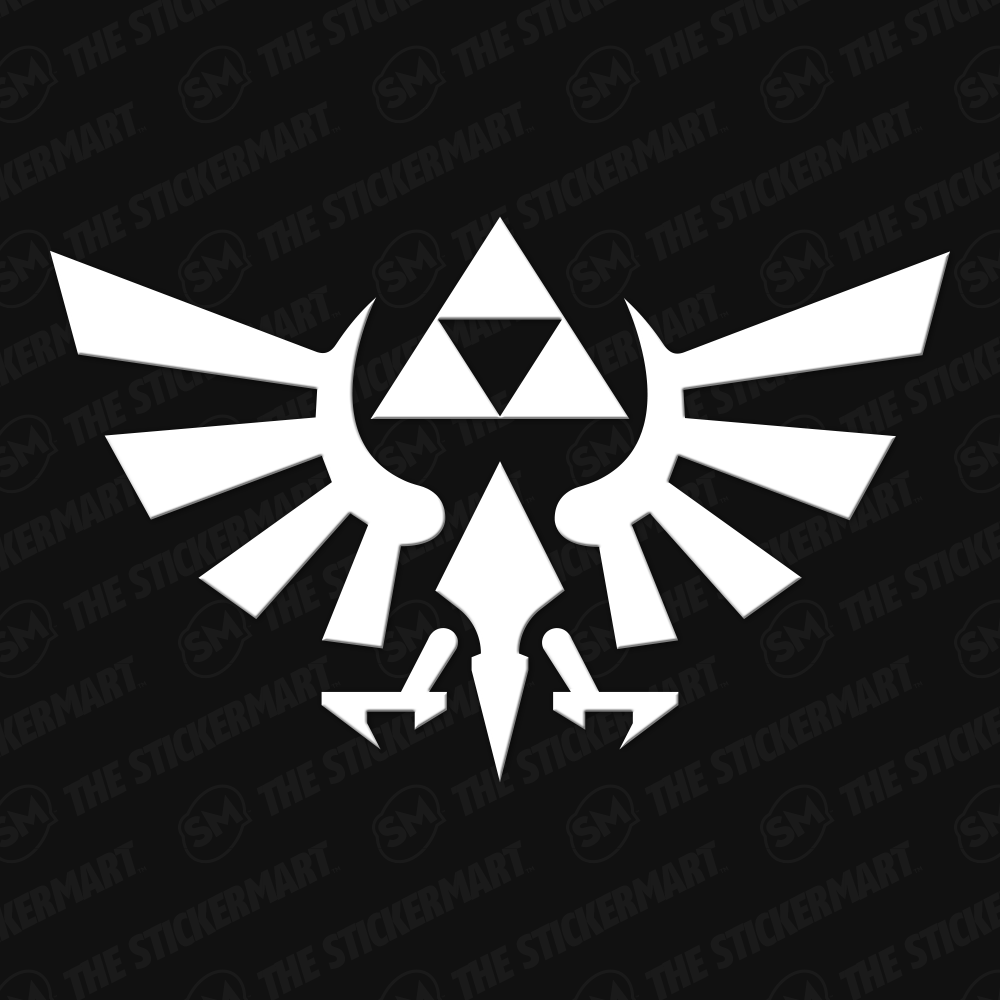 Legend of Zelda Hyrule Triforce Logo Vinyl Decal Zelda