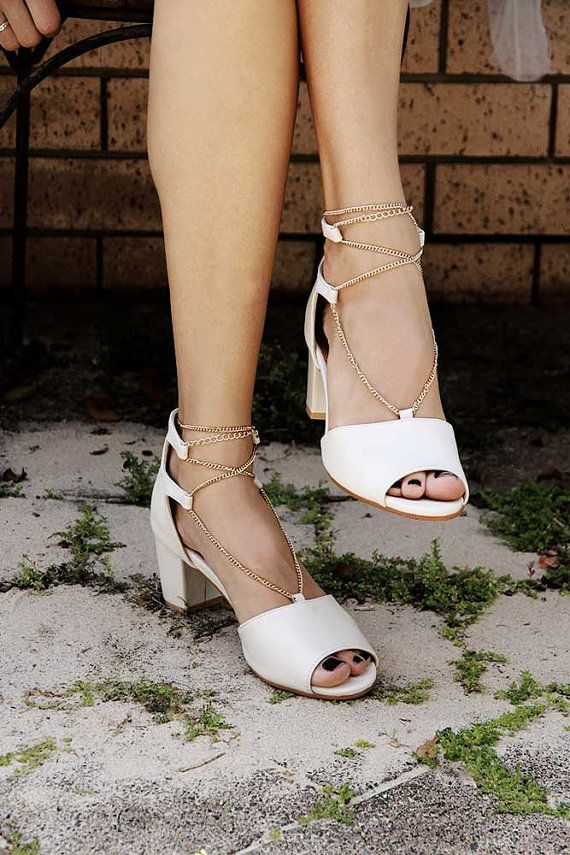 c6a2bd1c8037 Low heel Ivory Wedding shoes
