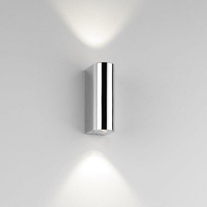 Alba Chrome Led Bathroom Wall Light Ip44 Wall Lights Led Down Lights Bathroom Wall Lights