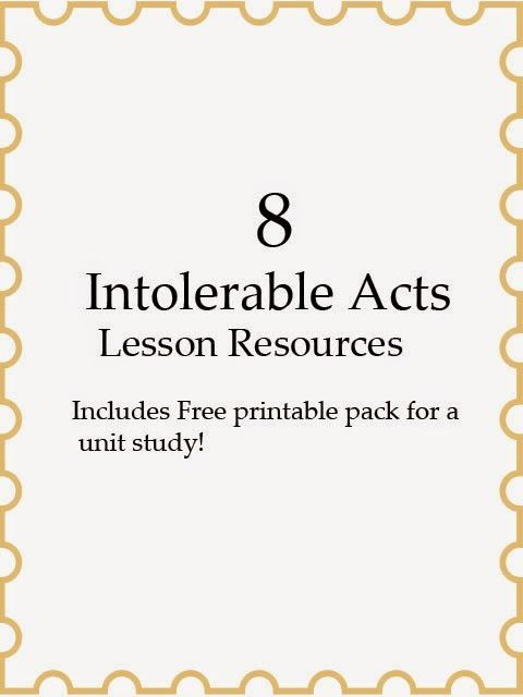 Photo of 8 Intolerable Acts Lesson Resources –
