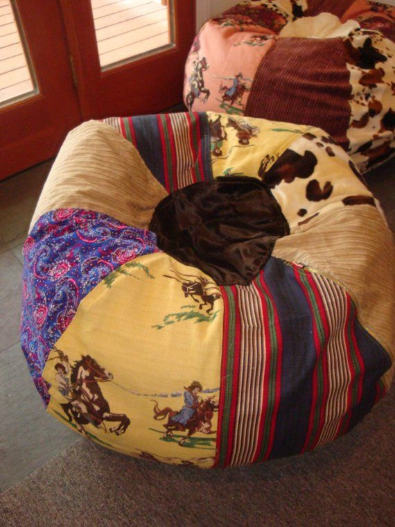 Excellent Chic Cowgirl Vintage Style Western Bean Bag Chair My Bralicious Painted Fabric Chair Ideas Braliciousco