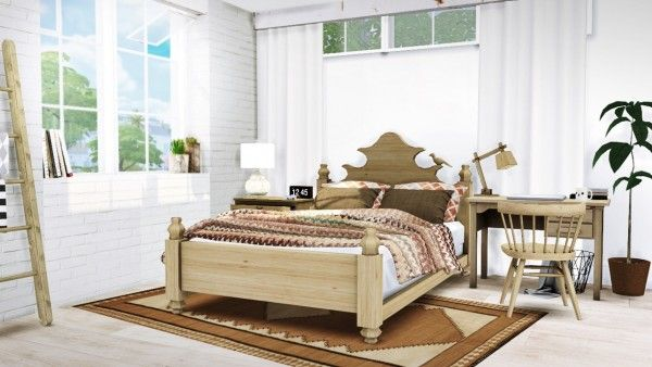Mxims Claudette Bed Sims 4 Bedroom Sims House Sims 4 Beds