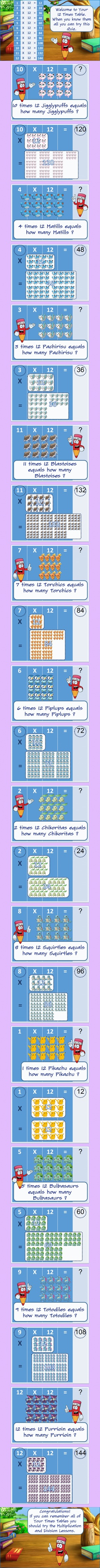 Phenomenal Learn Your 12 Times Table The Fun And Easy Way For 5 Year Download Free Architecture Designs Terchretrmadebymaigaardcom
