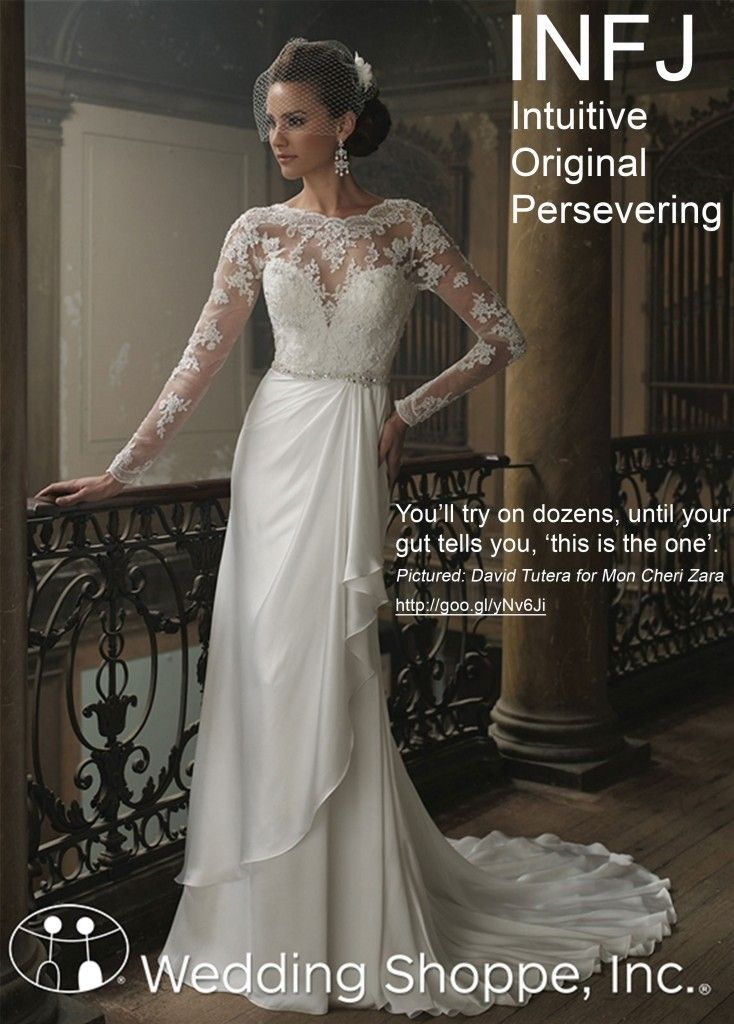 Wedding Style Wedding Dress Shopping By Myers Briggs Personality Type Infj Wedding Fashion