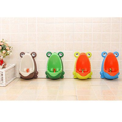Children Kid Frog Potty Toilet Training  Urinal for Boys Pee Trainer Bathroom SE