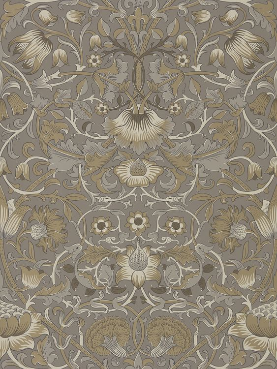 Pure Lodden by Morris Taupe / Gold Wallpaper 216028