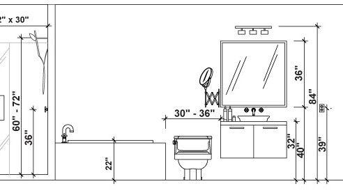 Bathroom: Brilliant Emejing Standard Bathroom Vanity Height Photos House  Decorating Throughout Standard Height For Bathroom