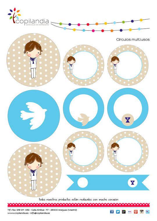Imprimible Primera Comunion Niño 2 por CopilandiaEventos en Etsy ...