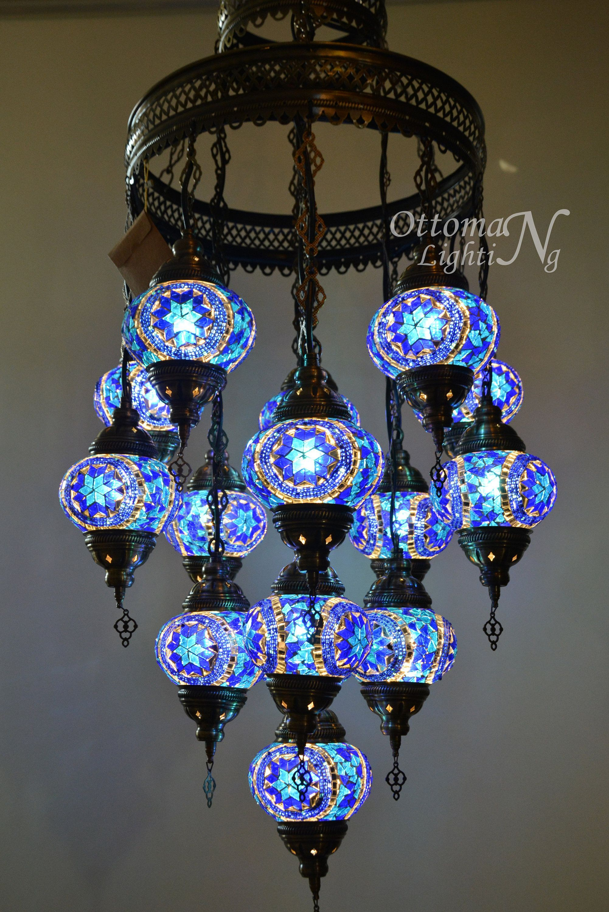 Handmade Turkish 15 Globe Stunning Chandelier Morrocan Decor Etsy Uniquelamps Morrocan Decor Turkish Lamps Mosaic Lamp