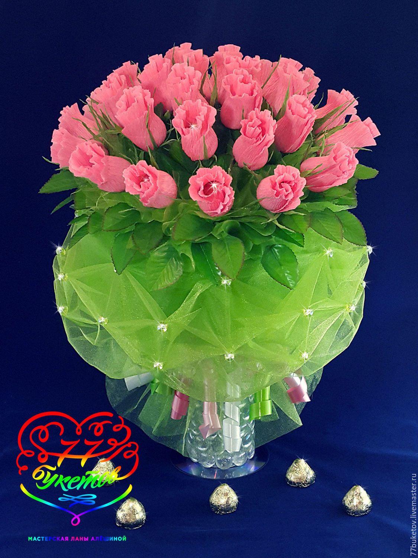 Сладкая композиция Бутоны роз Ярмарка Мастеров 24