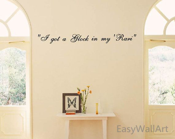 679 Lyric Fetty Wap In My Rari Wall Decals Quotes By EasyWallArt