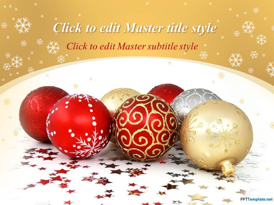 Plantilla PPT de Bolas de Navidad Gratis | Plantillas PPT ...
