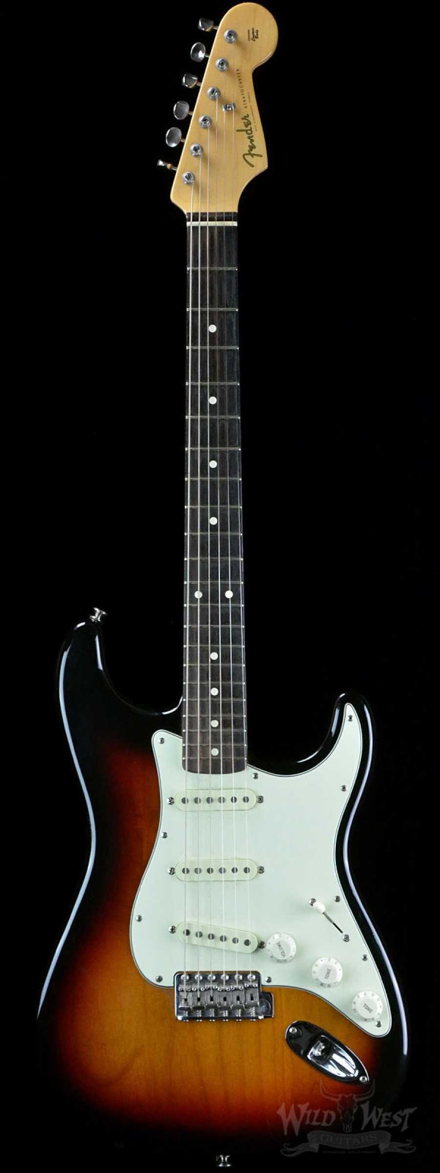 fender john mayer signature stratocaster three tone sunburst