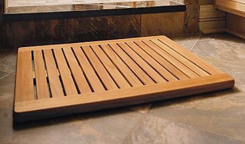 Grade A Teak Wood 30x24 Large Floor Mat Door Shower Pool Bath Room Spa Outdoor 123 Teak Shower Teak Shower Mat Teak Shower Floor