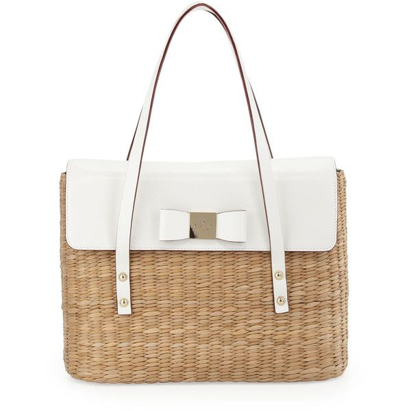 22410323de28 kate spade new york vita Limoni Luisa Straw Shoulder Bag ($243) found on  Polyvore featuring bags, handbags, shoulder bags, purses, buckle purses, ...