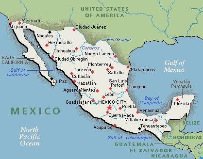 Mexico Map Mapa Paises Hispanos Pinterest Mexico Mexico