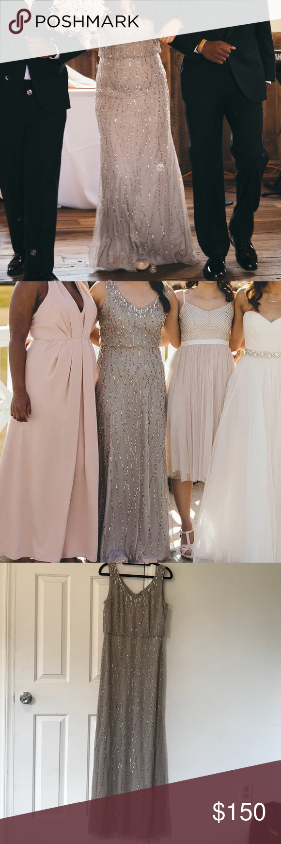 8ed9b621270 Adrianna Papell Brooklyn Dress Taupe (BHLDN) Gorgeous gorgeous dress I wore  for a friend s